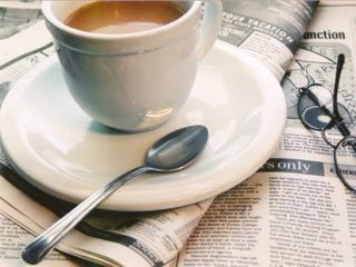 Coffee newspaper