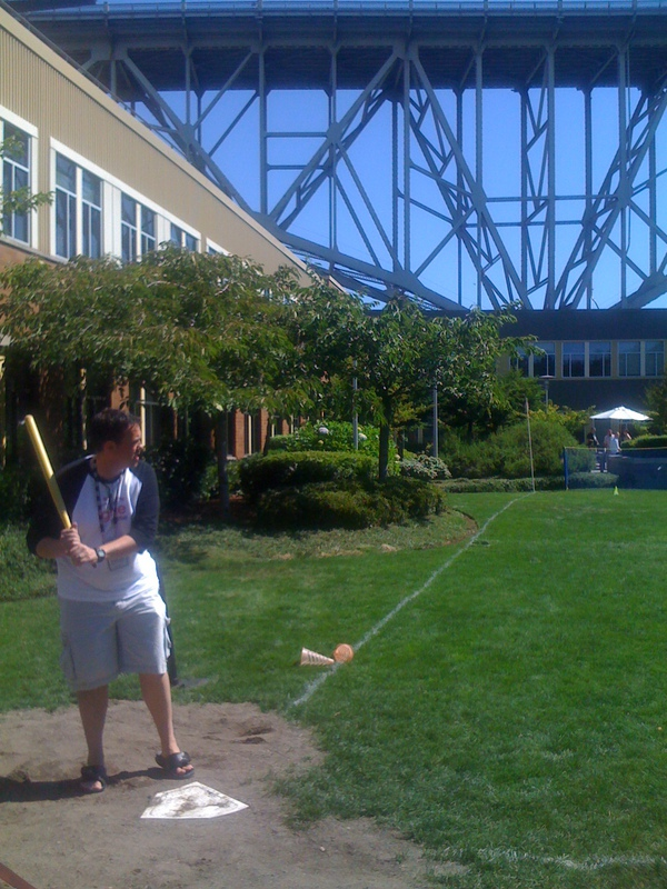 Bryan Zug playing Wiffle ball at #BCS10