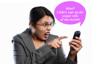 Unwanted sms lady