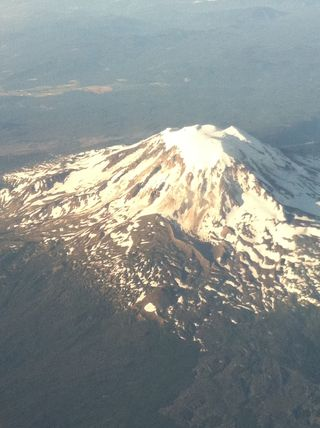 Mount Rainier as seen from my Alaska Air flight to Texas